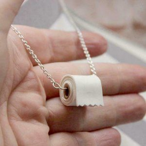 Jewelry - NWOT Funny Toilet Paper Necklace